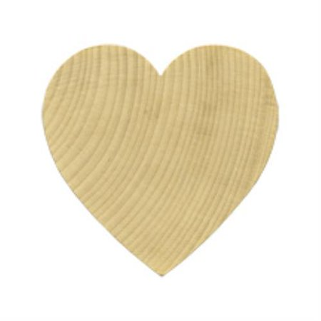 Brand New WH1712-5 Wooden Wood Hearts CutOut / Shape Bag of 5 (Heart Shaped Cut-out)