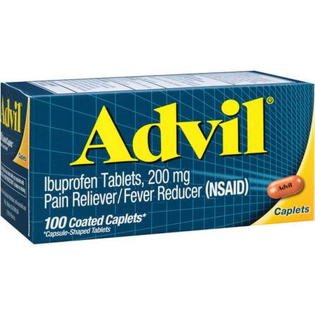 (2 pack) Advil Ibuprofen Coated Tablets, 200 mg, 100 ct