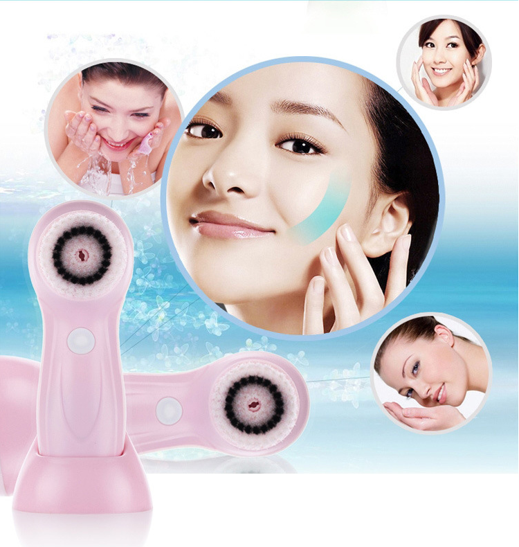 Facial Brush,Ymiko 2 Colors Fashion USB Rechargeable Electric Rotating Facial Cleansing Brush Soft Face Cleaner , Facial Brush, Face Cleanser