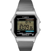 Timex Men's Classic Digital Stainless Steel Expansion Band Watches