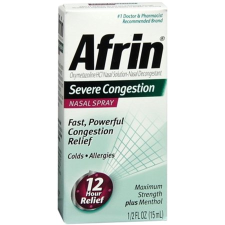 Afrin Nasal Spray Severe Congestion 15 mL (Pack of