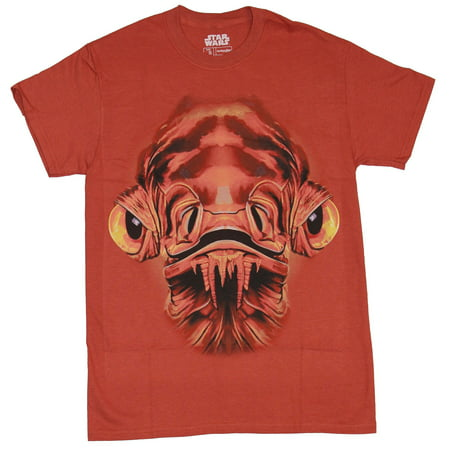 Admiral Clothes (Star Wars Mens T-Shirt - Admiral Ackbar Giant Red Face Image (Small))