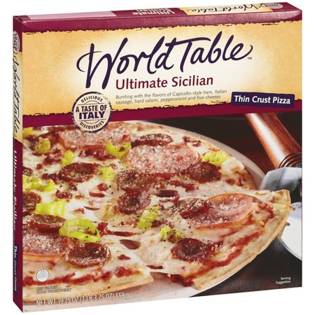 World table sicilian thin pizza for Table 5 pizza