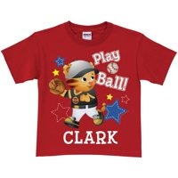 Personalized Daniel Tiger Play Ball Youth Red T-Shirt