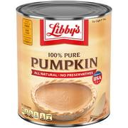 Libbys Pumpkin, Canned Puree and Pie Filling, 100% Pure Pumpkin, Gluten Free, 106 oz Can Bulk