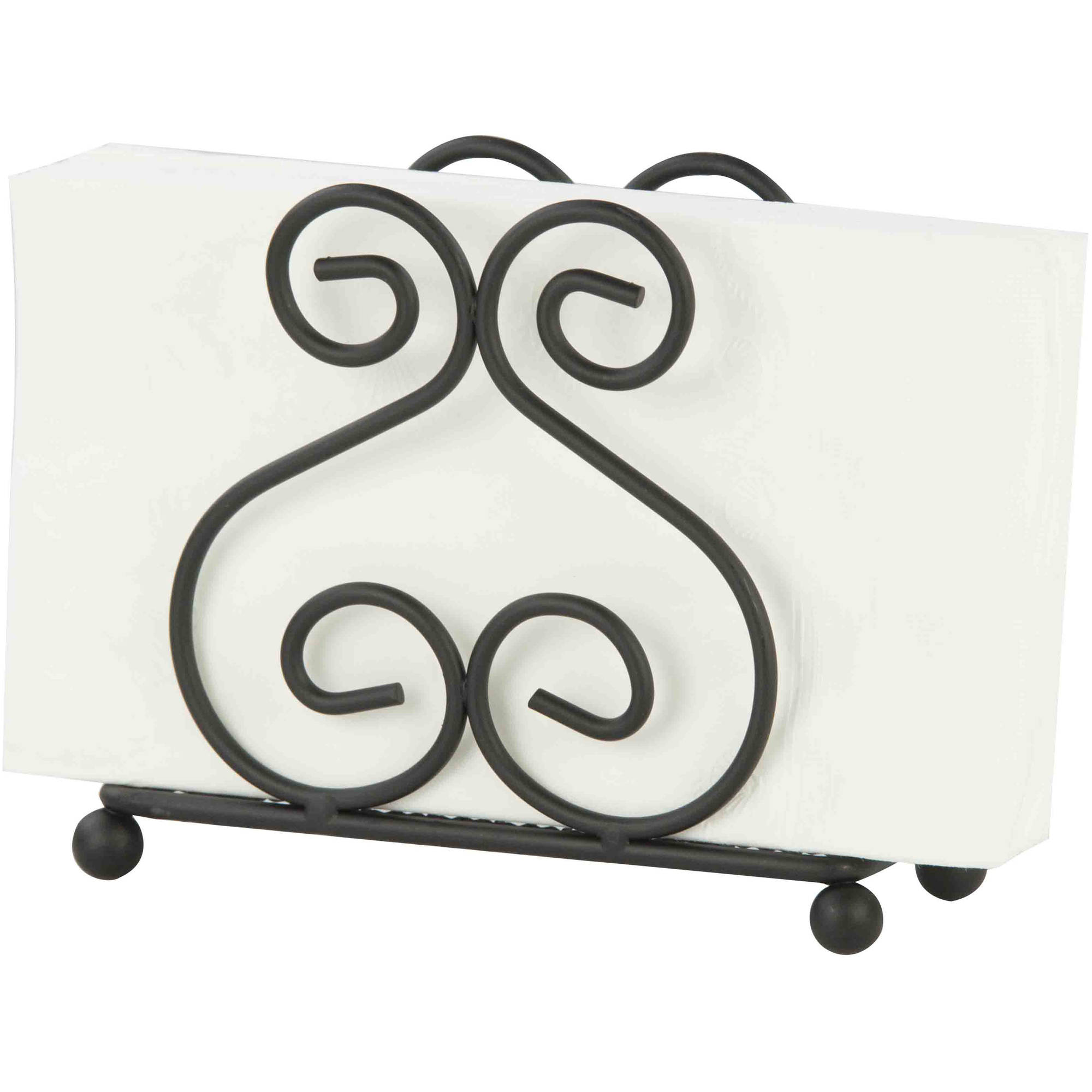 Home Basics Napkin Holder, Black