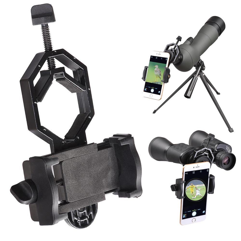 Universal Telescope Phone Adapter Mount Holder Microscope Binocular Monocular
