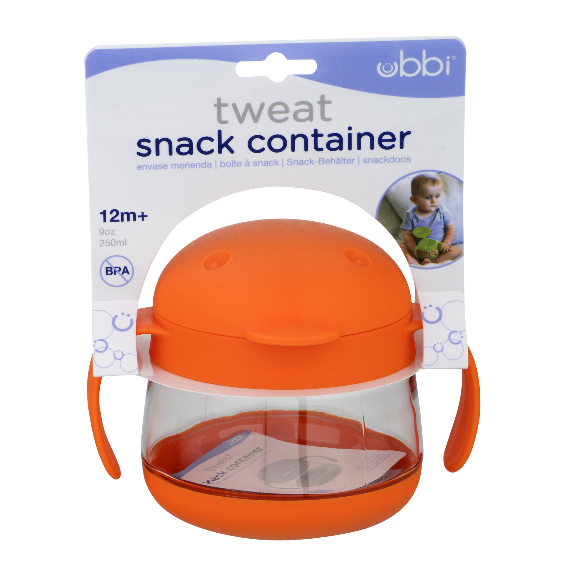 Ubbi Tweat Snack Cup, Orange