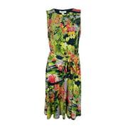 Charter Club Women's Floral Print Midi Sheath Dress