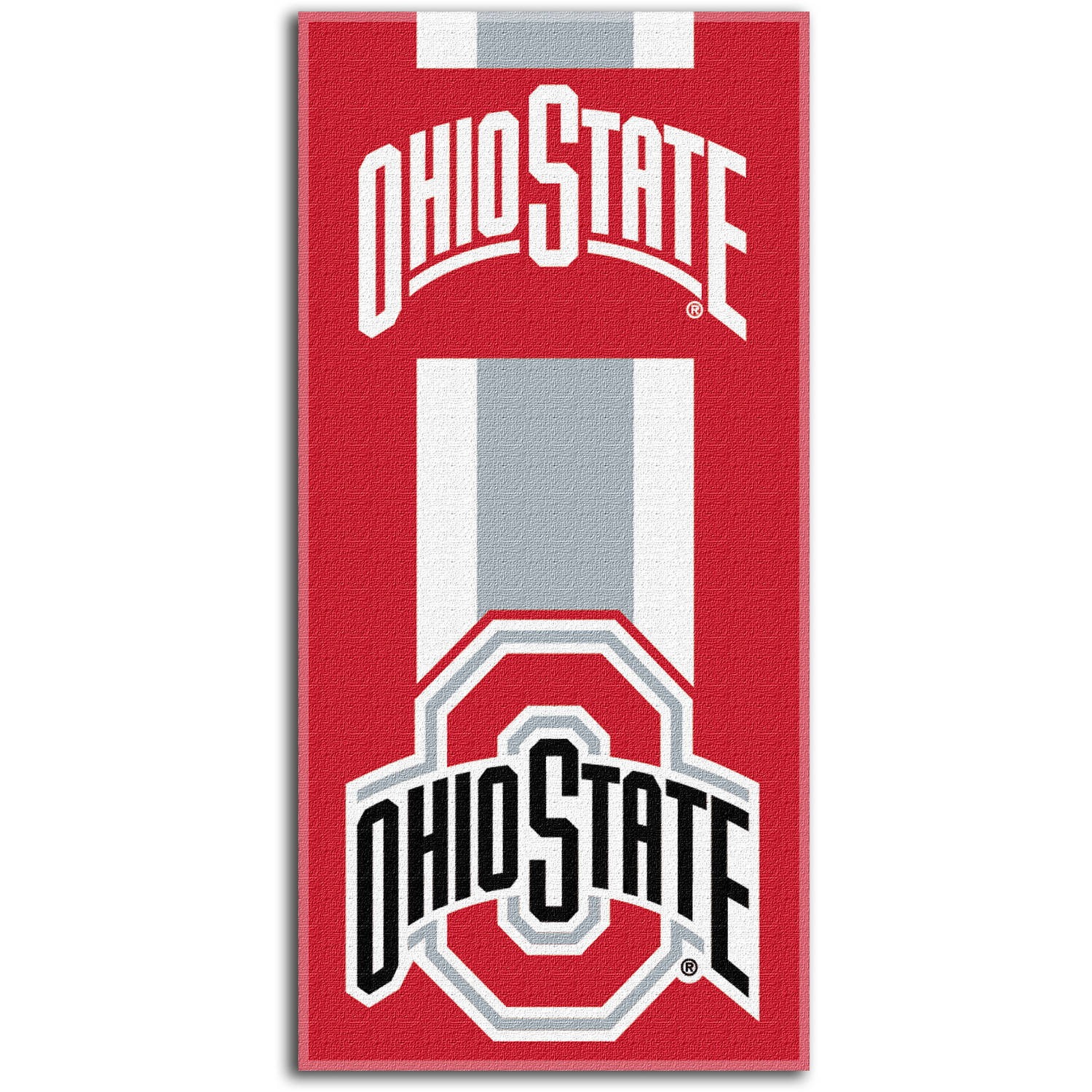 "NCAA Ohio State Buckeyes ""Zone Read"" 30"" x 60"" Beach Towel"