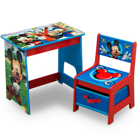 Disney Mickey Mouse Kids Wood Desk and Chair Set by Delta Children ()