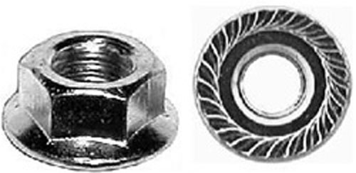 "6264 Thread Cut Nuts 11//32/"" Flange Zinc Auto Body Dr"