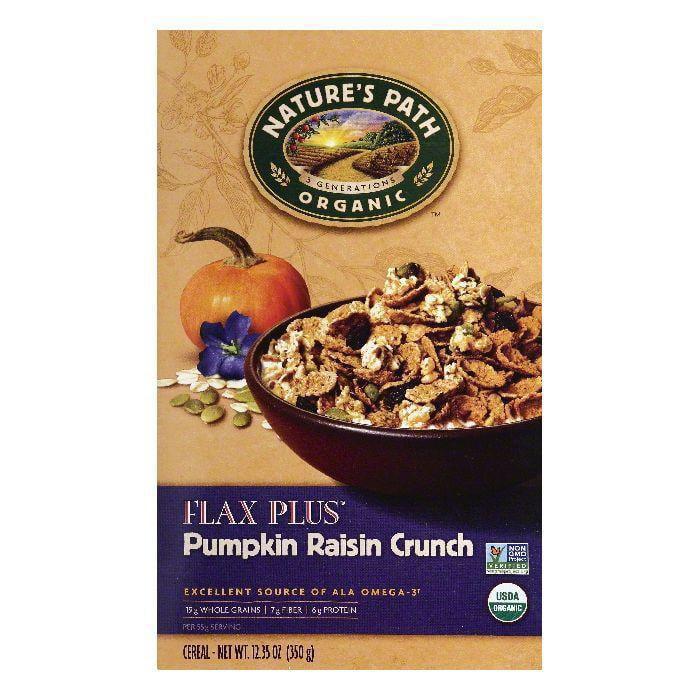 Nature's path flax plus pumpkin raisin crunch cereal, 12.35 oz (pack of 6)