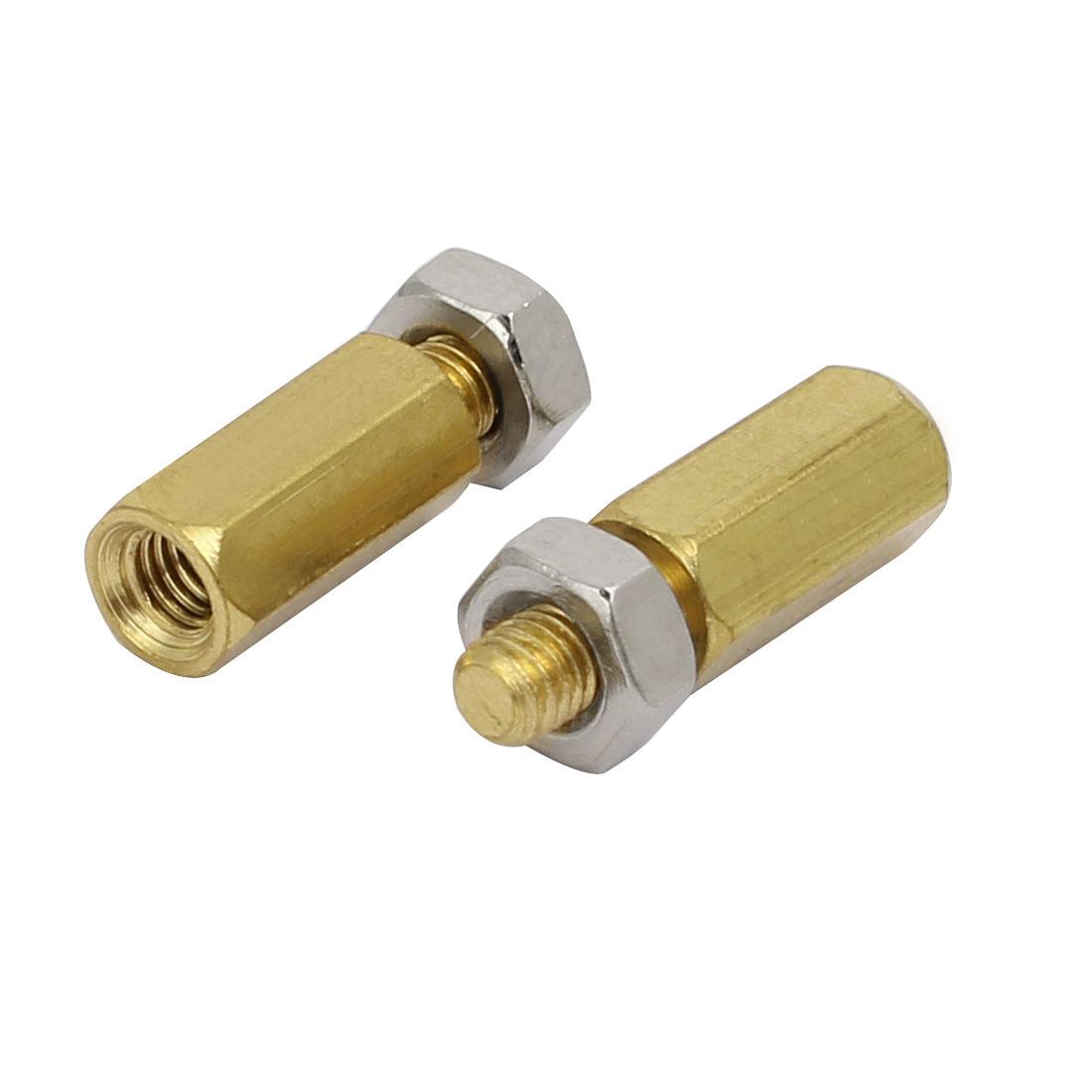 50Pcs M3 Male to Female Thread Copper Pillar Standoff Hexagonal Spacer w Nuts - image 1 de 3