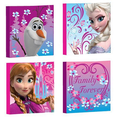 Frozen Wall Art disney frozen canvas wall art, 4-pack - walmart