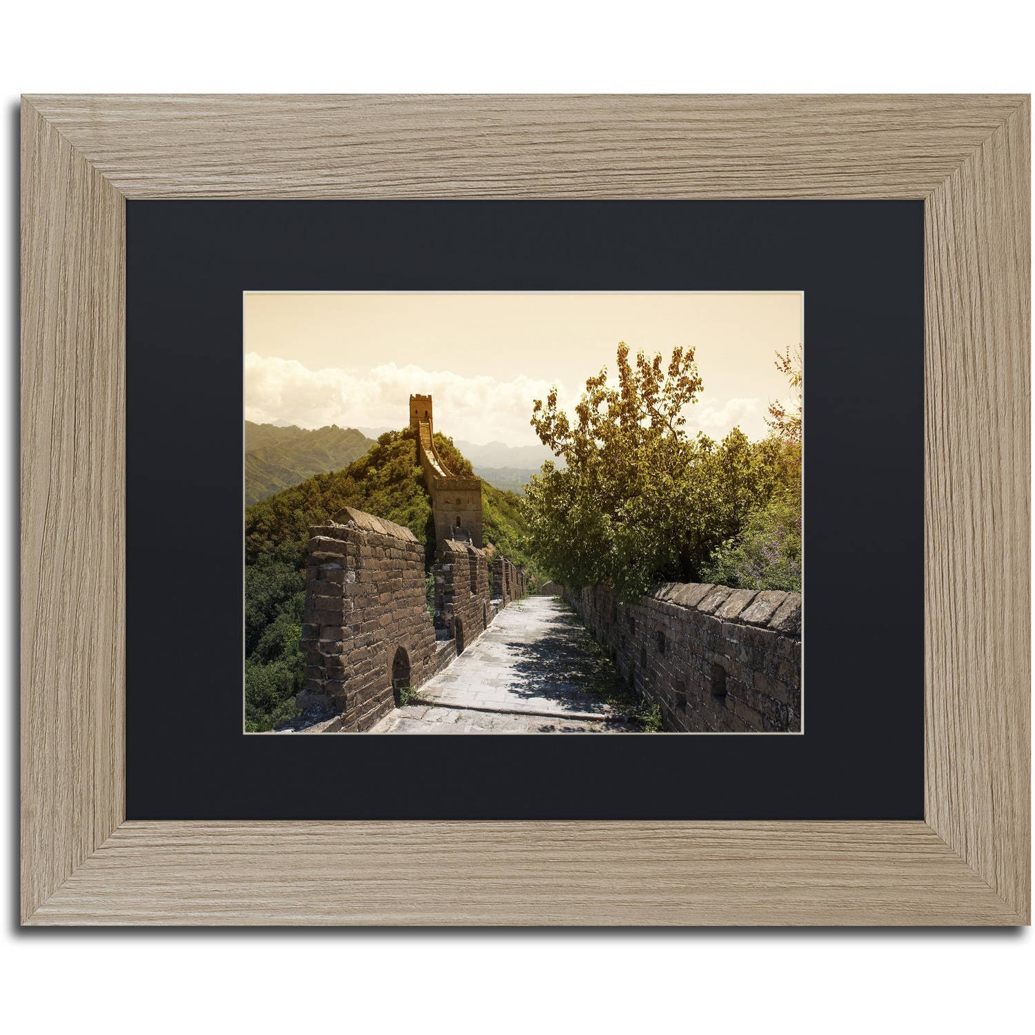 "Trademark Fine Art ""Great Wall III"" Canvas Art by Philippe Hugonnard, Black Matte, Birch Frame"