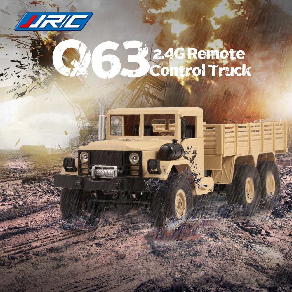 Jjr C Q63 1 16 Rc Car Off Road Truck 2 4g 6wd Car With Head Lights 500g Load Rc Pickup Car Gift For Kids Adults