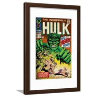 Marvel Comics Retro: The Incredible Hulk Comic Book Cover No.102, Big Premiere Issue (aged) Framed Print Wall Art