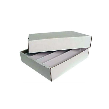 (1 Max Protection Full Lid 5000ct 5-Row Cardboard Trading Card Storage Box)