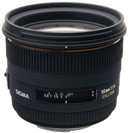 Sigma 50mm f/1.4 EX DG HSM Lens for Nikon Digital SLR Cam...