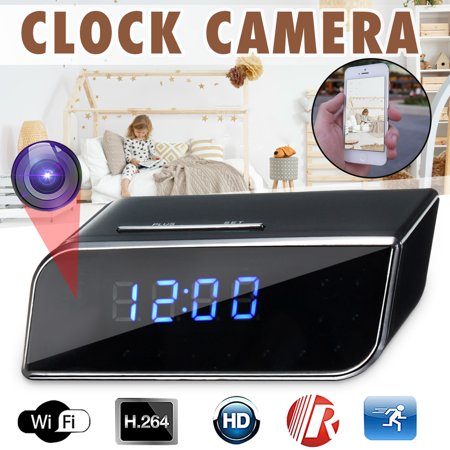 Wireless Hidden Camera Alarm Clock WiFi  HD 1080P Video Recorder DV Monitor 90° Covert Nanny Cam App Control With Motion Detection For Indoor Home Security (Best Punch Clock App)