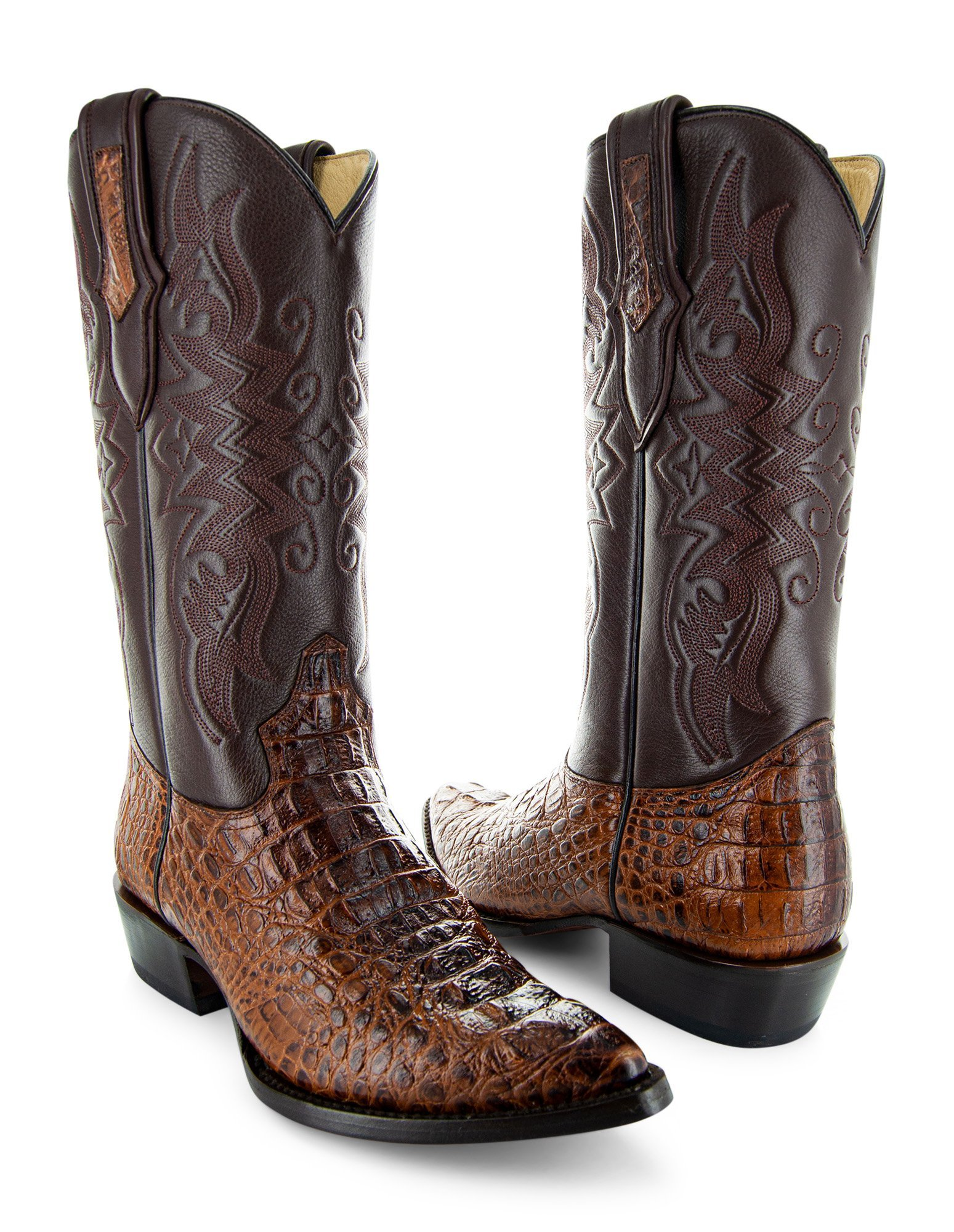 Soto Boots Men's Gator Tail Print Cowboy Boots