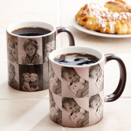 Personalized Multi Photo Color Changing Coffee Mug, 11 oz - Personalized Koozie