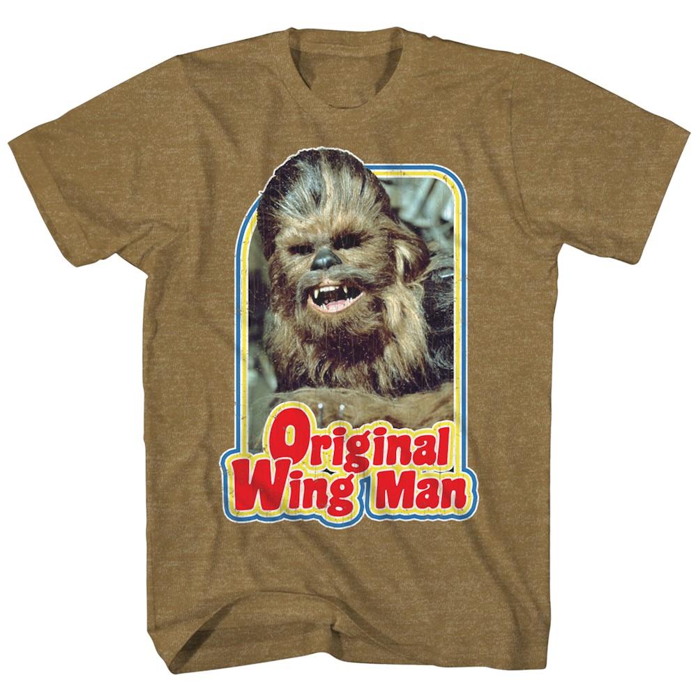 Unisex-Adult T-Shirt - Chewbacca Star Wars Tee - Retro Original Wing Man