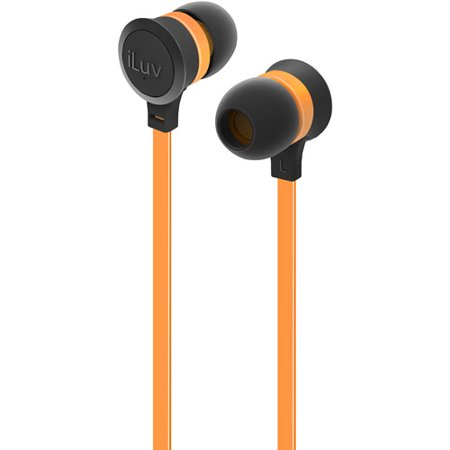 Neon Earbud Headphones - iLuv Neon Sound Tangle-Resistant In-Ear Stereo Headphones
