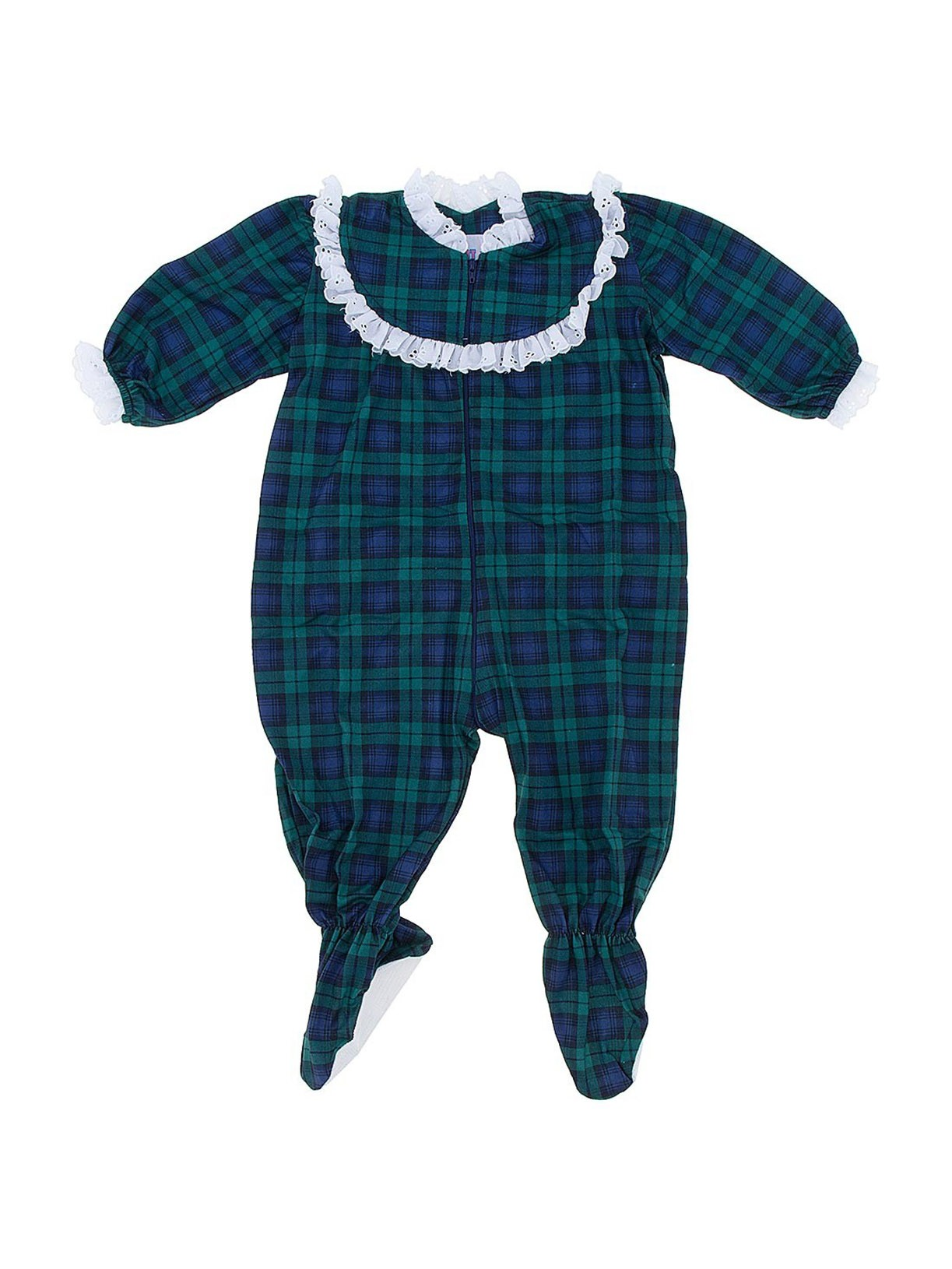 Blackwatch Classic Christmas Footed Pajama for Baby Girls