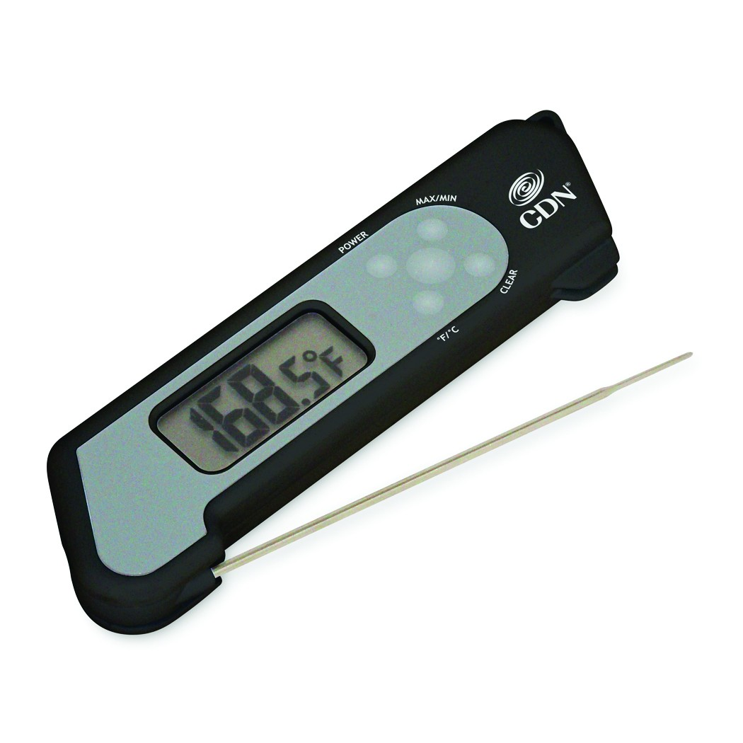 CDN ProAccurate Folding Themocouple Thermometer, Shatterproof, For Food Cooking