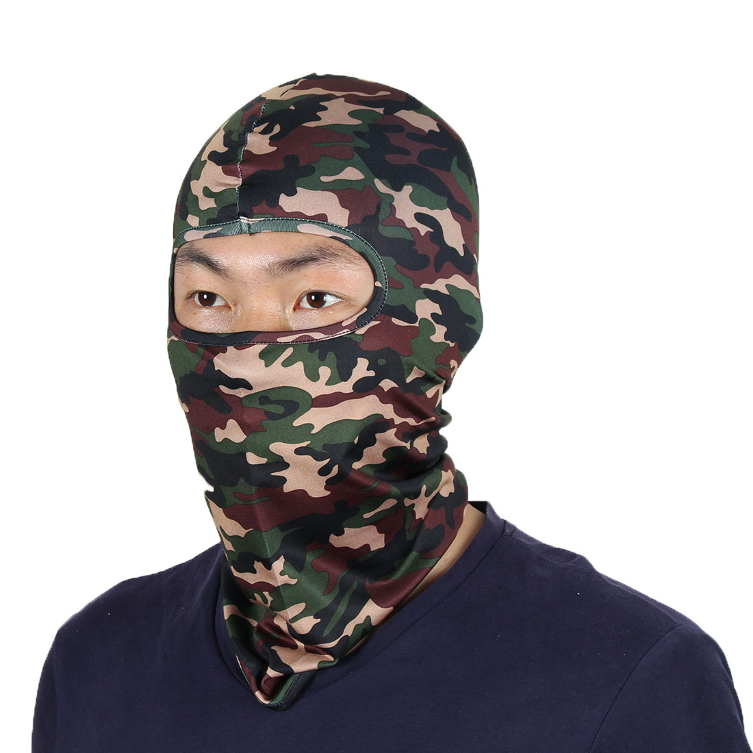 Full Coverage Face Mask Outdoor Neck Protector Hood Helmet Balaclava Camouflage by Unique-Bargains