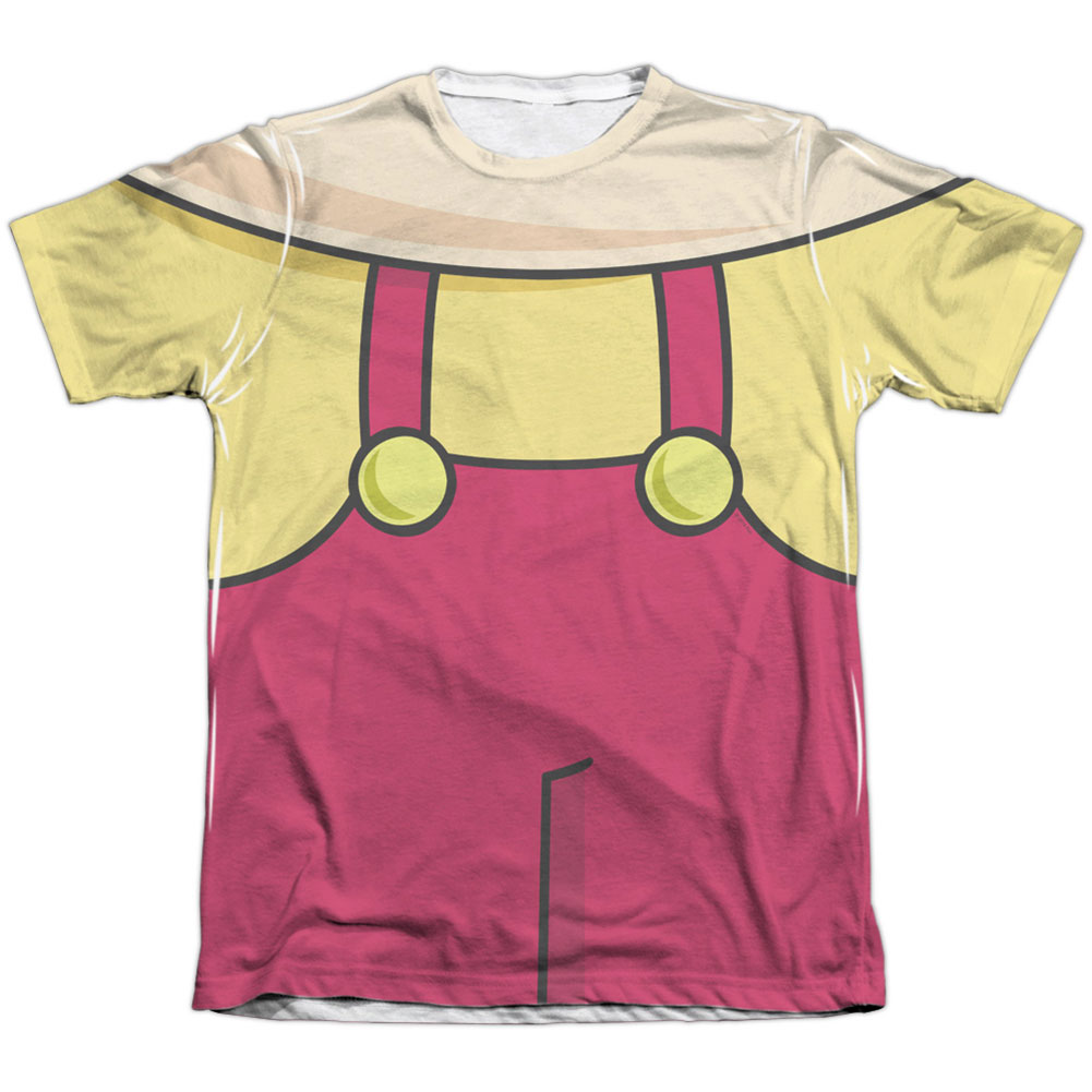 Family Guy Men's  Stewie Costume Sublimation T-shirt White
