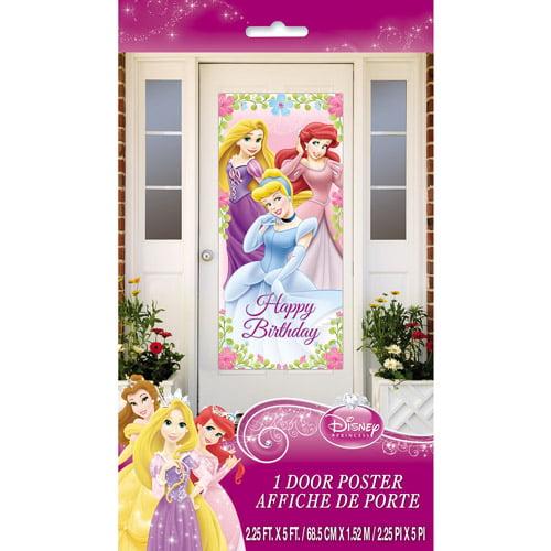 """Disney Princess Door Poster, 60"""" x 27"""""""