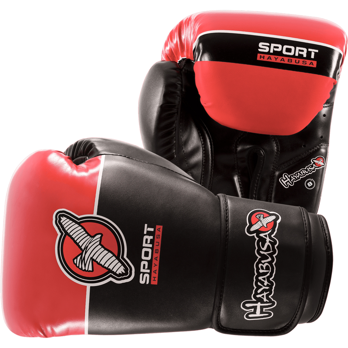 Hayabusa Sport Hook and Loop Training Glove - 8 oz. - Black/Coral