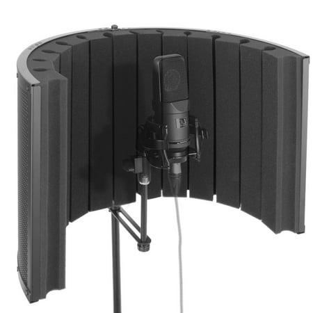PYLE PSMRS09 - Microphone Isolation Shield - Vocal Booth & Studio Recording Acoustic