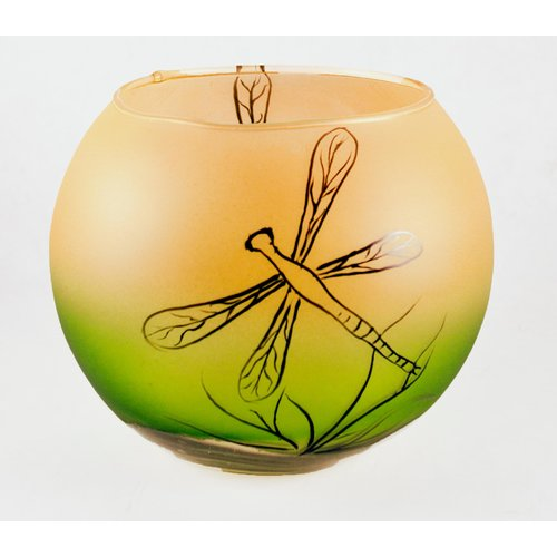 Womar Glass Dragon Fly Decorative Bowl