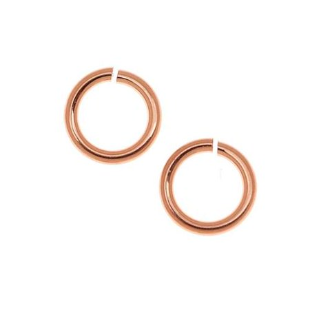 14K Rose Gold Filled 4mm Open Jump Rings 22 Gauge Thick (20 Pieces)