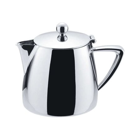 Winco Z-MC-TP10, 10 oz Cadenza Monte Carlo Tea Pot with Hinged Lid, 18/10 Stainless Steel, Mirror Finish