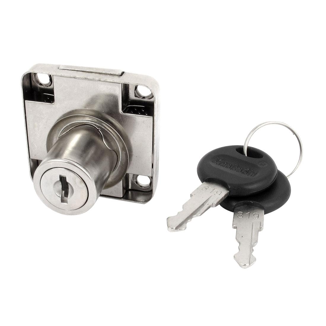 Home Furniture Showcase Cabinet Glass Door Cylinder Metal Base Security Drawer Lock Deadbolt