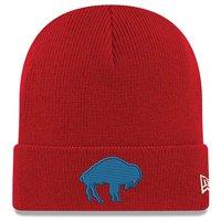 Buffalo Bills New Era Historic Cuffed Knit Hat - Red - OSFA