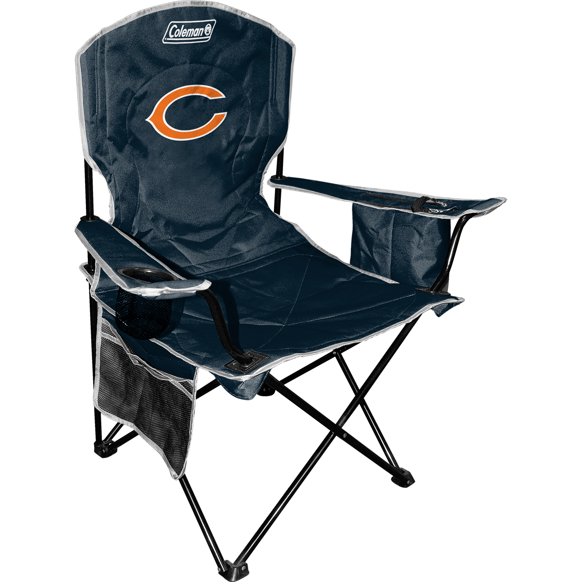 Coleman Quad Chair with 4- to 6-Can Cooler, Chicago Bears