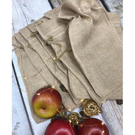 Burlap Wedding Favors (20 Burlap Style Cute Gift Party Favor Fabric Birthday Treat Goody Bag -)