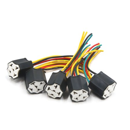5pcs 5 Terminals Wiring Harness Relay Socket Connector for ... Relay Wiring Car Stereo on car fan relay, car air conditioning relay, remote start relay, car lights relay, battery relay, car ac relay, car speaker relay, bluetooth relay, car alarm relay, remote control relay, telephone relay, car power relay, car amp relay,