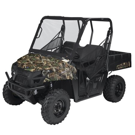 Classic Accessories QuadGear UTV Front Windshield, UTV Cover Fits Kawasaki® Mule Pro FX & DX (2015+ models), Black