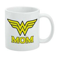Wonder Woman Wonder Mom Logo White Mug