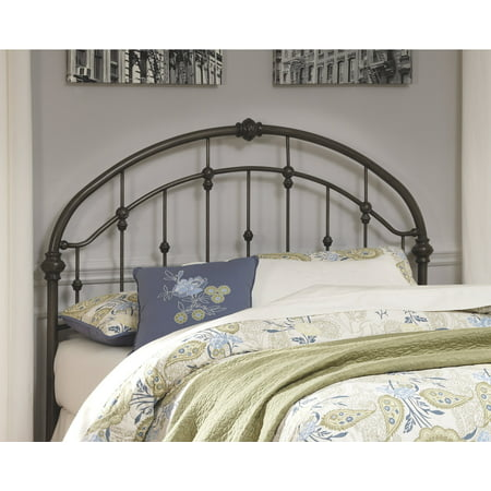 Signature Design by Ashley Nashburg Bronze Finish Queen Metal Headboard Wood Metal Headboards