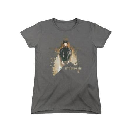 Star Trek Reboot Movie Khan Dark Villain Women's T-Shirt Tee - Villain Suit