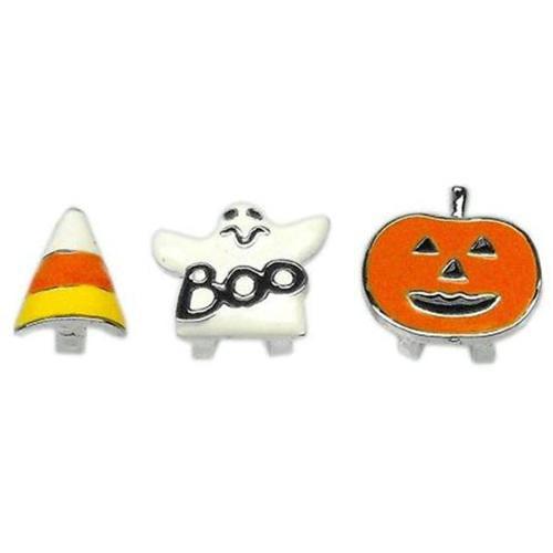 """3/8"""" (10mm) Halloween Slider Charms Pumpkin 3/8"""" (10mm)"""