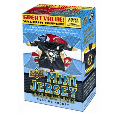08 Upper Deck Ice - Upper Deck Mini Jersey Collection 2007-08 Hockey 3 Packs!